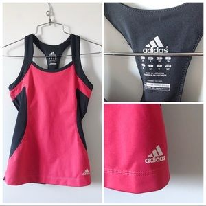 3/20$ Adidas built in bra tank grey and pink
